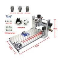 CNC router mini DIY cnc machine 3060 USB port Milling engraving machine 6030 with Mach3 ER11 collet tools kit