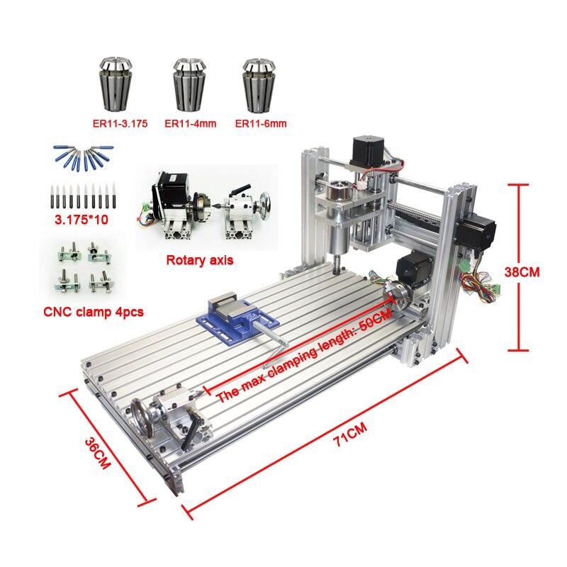 CNC router mini DIY cnc máquina de 3060 Puerto USB fresadora máquina de grabado máquina de 6030 con Mach3 ER11 collet kit de herramientas