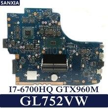Kefu ROG GL752VW материнская плата для ноутбука ASUS GL752VW GL752V GL752 Тесты Оригинал материнская плата I7-6700HQ GTX960M-2GB/4 GB HM170