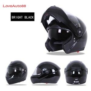 Image 3 - フルフェイスプロフェッショナルオートバイヘルメット安全ヘルメットレーシングヘルメットモジュラーデュアルレンズオートバイヘルメットユニセックス利用可能