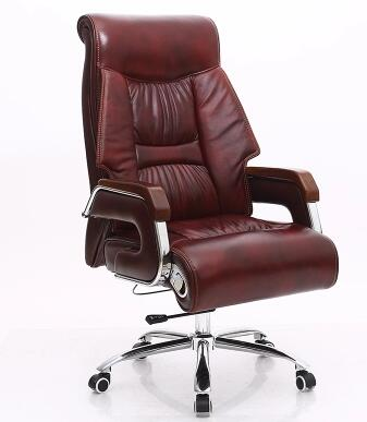 Купить с кэшбэком Leather of human body engineering office chair massage can lie swivel chair leather of large chair
