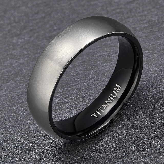 5d13a1f9f Somen 2018 New Fashion Men's Black Titanium Ring Matte Finished Classic  Engagement Anel Jewelry For Male Wedding Bands