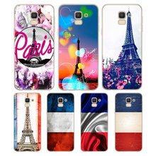Silicone Phone Case France Paris Flag Fashion for Samsung Galaxy j8 j7 j6 j5 j4 j3 Plus Prime 2018 2017 2016 Matte Cover