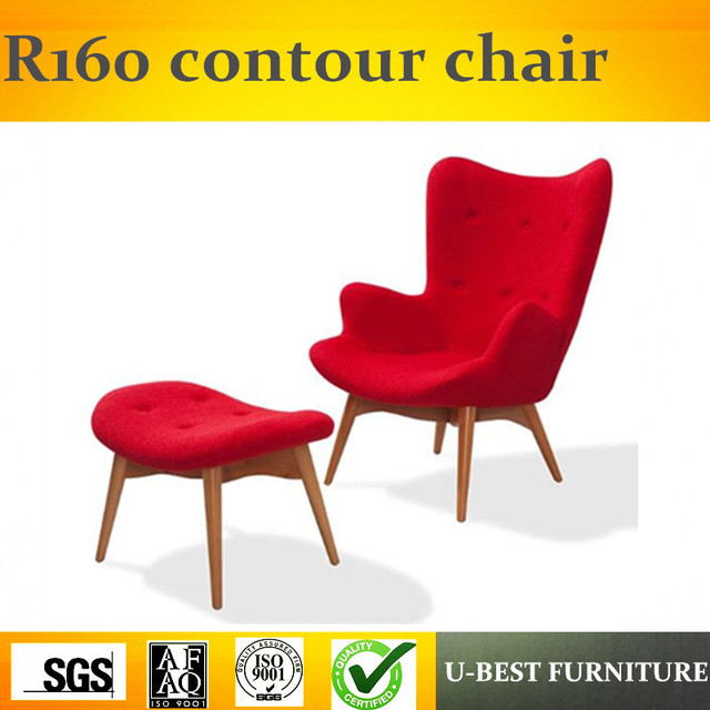 contemporary lounge chairs chair step stool folding u best replica modern furniture grant featherston r160 contour and footstool