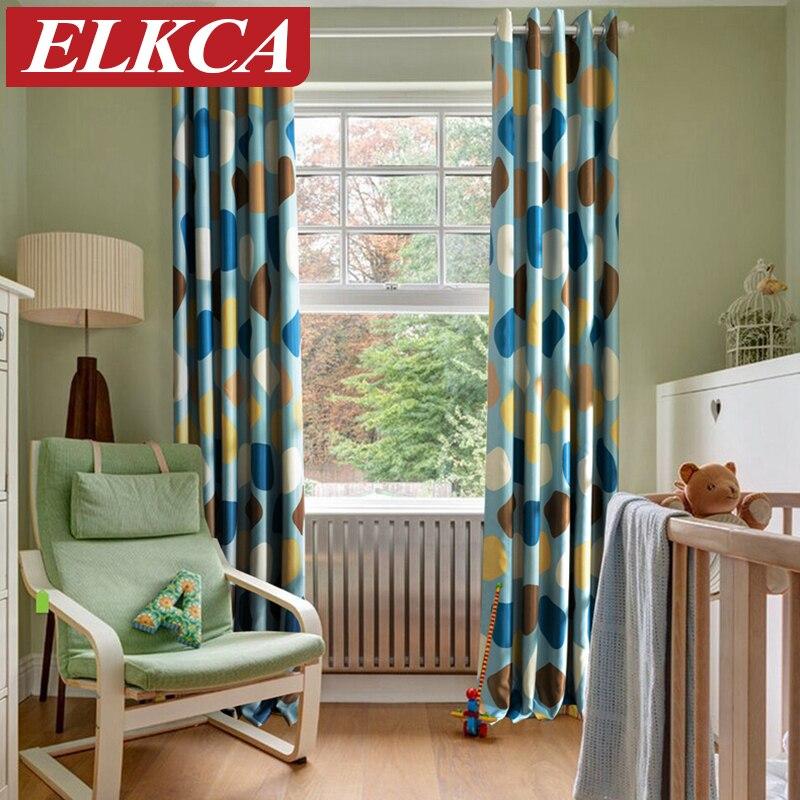 cortinas modernas para habitacin de los nios sin fin impreso blackout grueso cortinas para la ventana