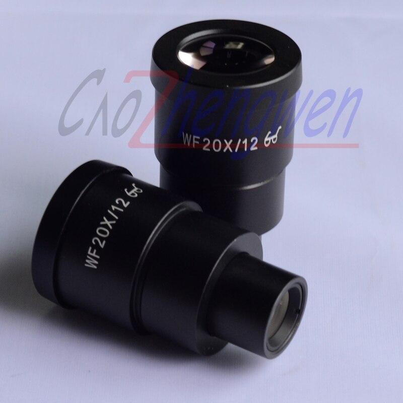 Oculaire de Microscope à champ large à Point élevé FYSCOPE WF20/12 MM 30mm