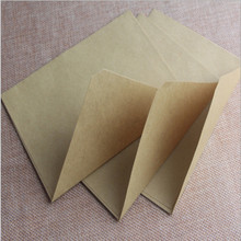 50pcs set Vintage Brown White black Kraft blank mini paper window envelopes wedding invitation envelope gift