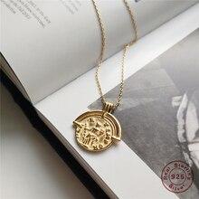 9ad4ea37fe5e ROXI Real 925 plata esterlina collar romano moneda colgante collar mujeres  Vintage minimalista disco gargantillas collares de jo.