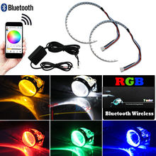 Bluetooth Remote Control RGB Demone Occhio Halo anello LED for Faro proiettore Lens