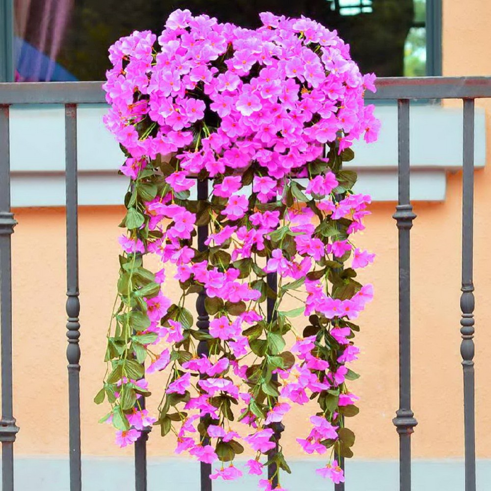 Artificial Silk Orchid Artificial Flower Garland Wall Hanging Plant ...