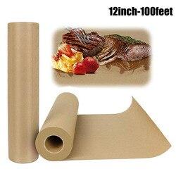 Daging Kraft Paper Roll-12 Inchx 100 Kaki Kertas Pembungkus untuk Daging Sapi Disetujui FDA untuk Merokok Daging memasak Kertas