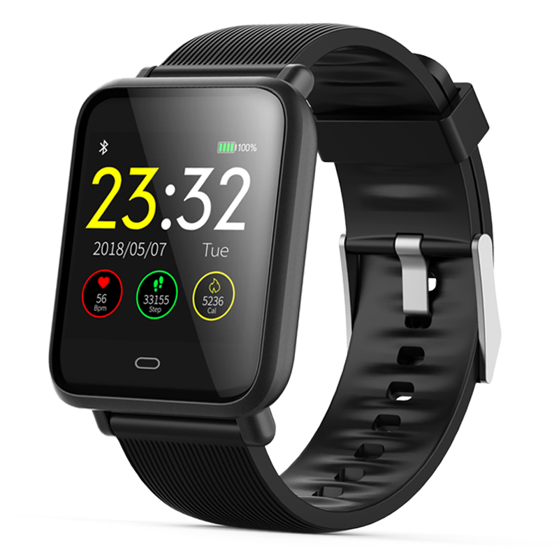Smart Watch for Mens Q9 Blood Pressure Heart Rate Monitor Smartwatch IP67 Waterp