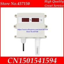 온도 및 습도 센서 송신기 4 20ma 0 5 v 0 10 v rs485 출력 방수 디지털 led 디스플레이 수분 측정기