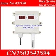 Sıcaklık ve nem sensör verici 4 20MA 0 5 V 0 10 V RS485 çıkış su geçirmez dijital led ekran nem metre