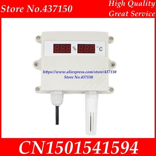 Temperature and humidity sensor transmitter 4 20MA 0 5V 0 10V RS485 output waterproof digital led display moisture meter