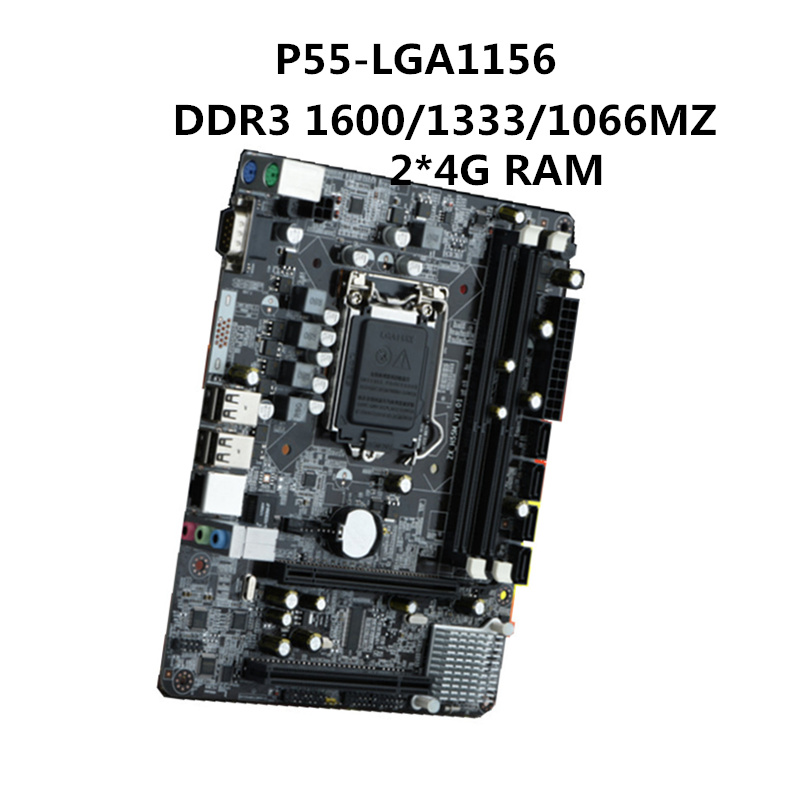 2018 New P55 Desktop motherboard motherboard LGA1156 pin DDR3 8G Intel Core i3 15 17 Series discrete graphics PCIEx16 2018 New P55 Desktop motherboard motherboard LGA1156 pin DDR3 8G Intel Core i3 15 17 Series discrete graphics PCIEx16