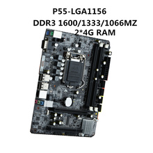 2018 nuevo P55 escritorio placa base LGA1156 pin DDR3 8g Intel Core i3 15 17 serie de gráficos discretos PCIEx16