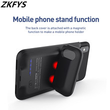 ZKFYS 5000mAh Battery Charger Cases For iPhone XS MAX Battery Power Bank Portable Charging Case For iPhone XS MAX Charging Cover original sigelei swallowtail 75a support charging of power on off and charging max current can reach 2 5a without 18650 battery