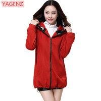 YAGENZ Large Size Womens Clothing Hoodie Coat Autumn Winter Women Thickening Cardigan Coat Fashion Long Section