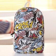 RU BR Fashion Street Graffiti School Backpack Girls Boys Canvas Bags For Teenagers Feminina Backpacks Hot