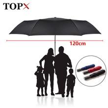 חדש 120 cm גדול אוטומטי באיכות מטריית גשם נשים 3 מתקפל Windproof גדול חיצוני לגברים אישה Paraguas שמשייה