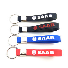 Silicone Emblem Badge Car sticker Key Ring FOR Saab 9-3 9-5 900 9000 Saab 93 95 Emblems Auto Accessories Car Styling(China)