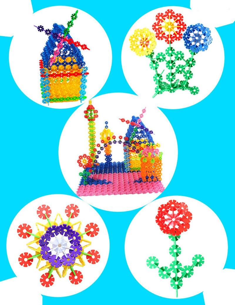400 հատ հատ Montessori կրթական շենք Toy Kid Diy Gift - Կառուցողական խաղեր - Լուսանկար 4