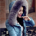 2015 fashion Outerwear Slim Winter Jacket Women Warm Down Parkas Winter Coat Women White Duck Down Coat Large fur collar DX122