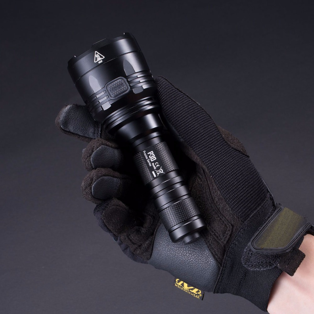 SALE NITECORE 1000Lumen P30 Tactical Flashlight CREE XP-L HI LED Waterproof Outdoor Camping Hunting Portable Torch Free Shipping 2017 new nitecore p12 tactical flashlight cree xm l2 u2 led 1000lm 18650 outdoor camping pocket edc portable torch free shipping