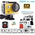 Original EKEN H9/H9R remoto da câmera de Ação Ultra HD 4 K WiFi 1080 P/60fps 2.0 LCD 170D Helmet Cam ir 30 M à prova d' água pro câmera