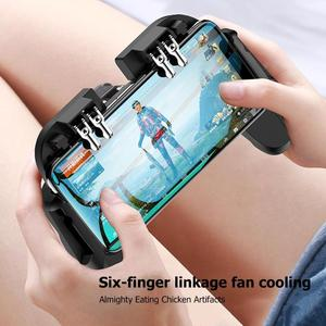 VODOOL H9 PUBG Mobile Gaming Joystick Gamepad Trigger Fire Button L1R1 Shooter Controller With Cooling Fan Mobile Phone Radiator
