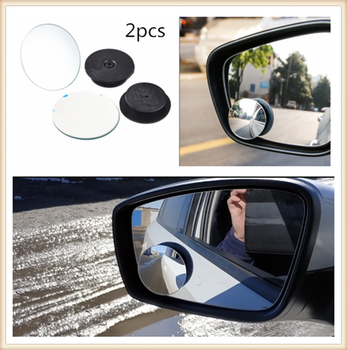 2pcs car motorcycle small round glass blind spot mirror parking assist for BMW all series 1 2 3 4 5 6 7 X E F-series E46 E90 image