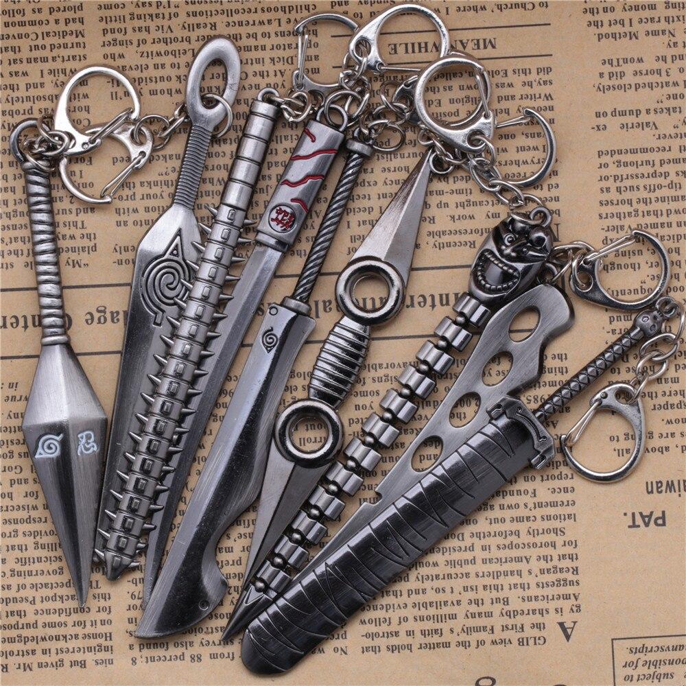 10cm Naruto Weapon Model keychain Ninja Kunai Figure Pendant Toy Anime Accessories key chain gift crash bar mt 09