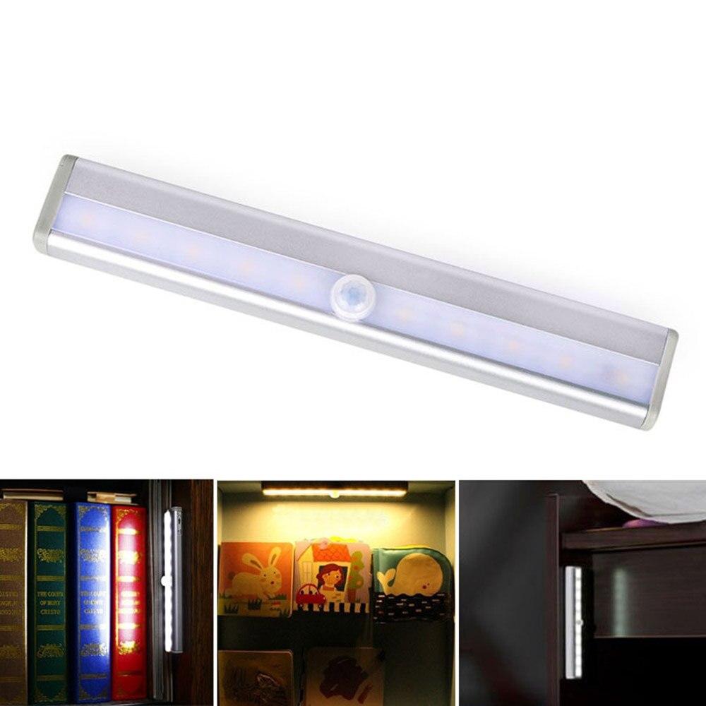 Wireless Motion Sensor Light Stick On Portable 500mA Rechargeable 10 LED  Closet Cabinet LED Bar Light Stair Step Night Light  In LED Bar Lights From  Lights ...