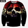 2016 New 3d Hoodies Men Women Graphic Design Print Colored Painting Big Eye Skull Cartoon Sweatshirts Unisex Sudaderas