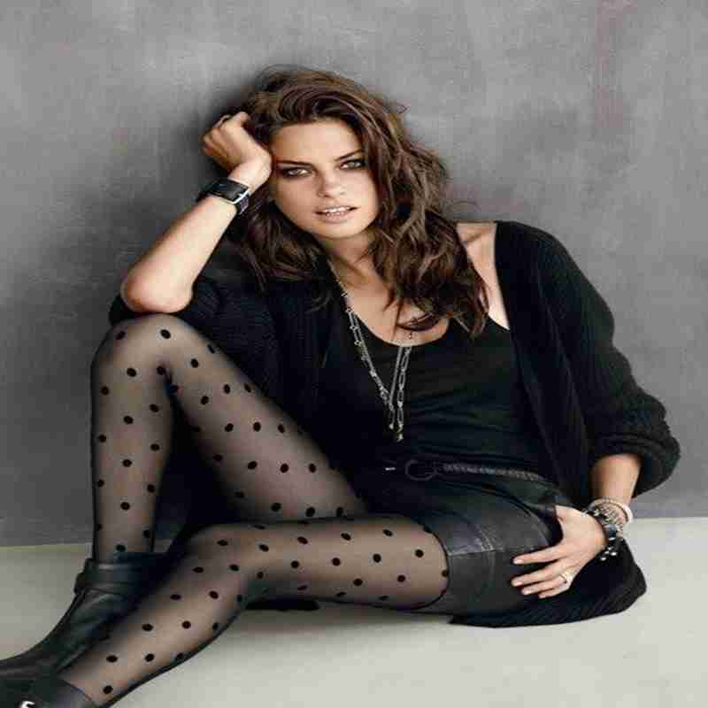 Fashion Women Casual Dot Thin Sheer Silk Stockings Tights Full Foot Stretch Pantyhose