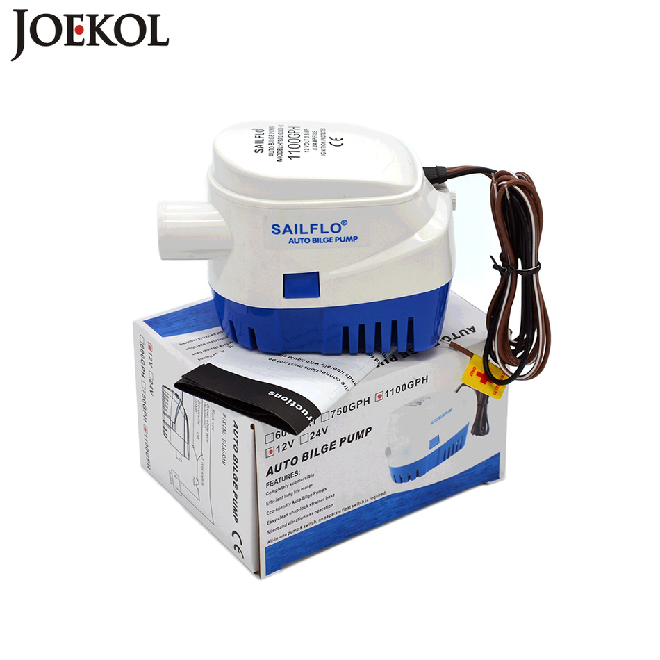 Free shipping 1100GPH submersible boat water pump DC 24V Automatic bilge pump electric pump for boats accessories marine kingston sdxc 64gb class10 sd10vg2 64gb