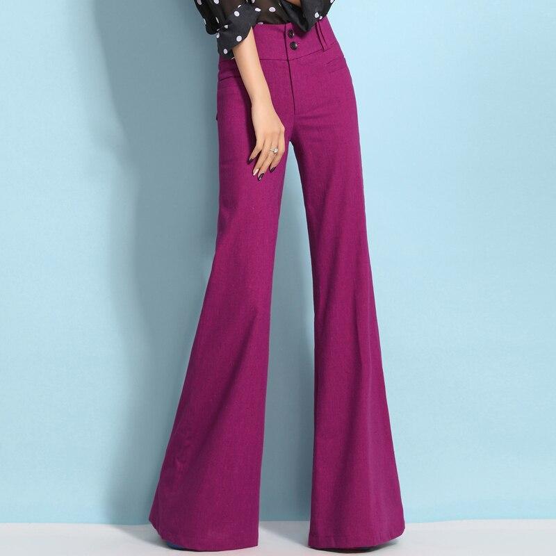 Earoomze Fashion Women Summer Wide Leg Pants Womens High -4619
