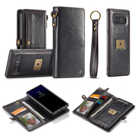 Phone Case For Samsung Galaxy Note 8 Luxury Leather Wallet Card Pocket 2 In 1 Silicone