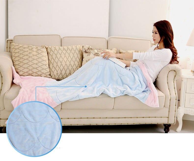 Aliexpress.com : Buy Super Soft Fleece Shark Fish Mermaid Tail Blanket  Adult Baby Sleeping Bag Sofa Cobertor De Sereia Plaid Mermaid Blanket For  Kids From ...
