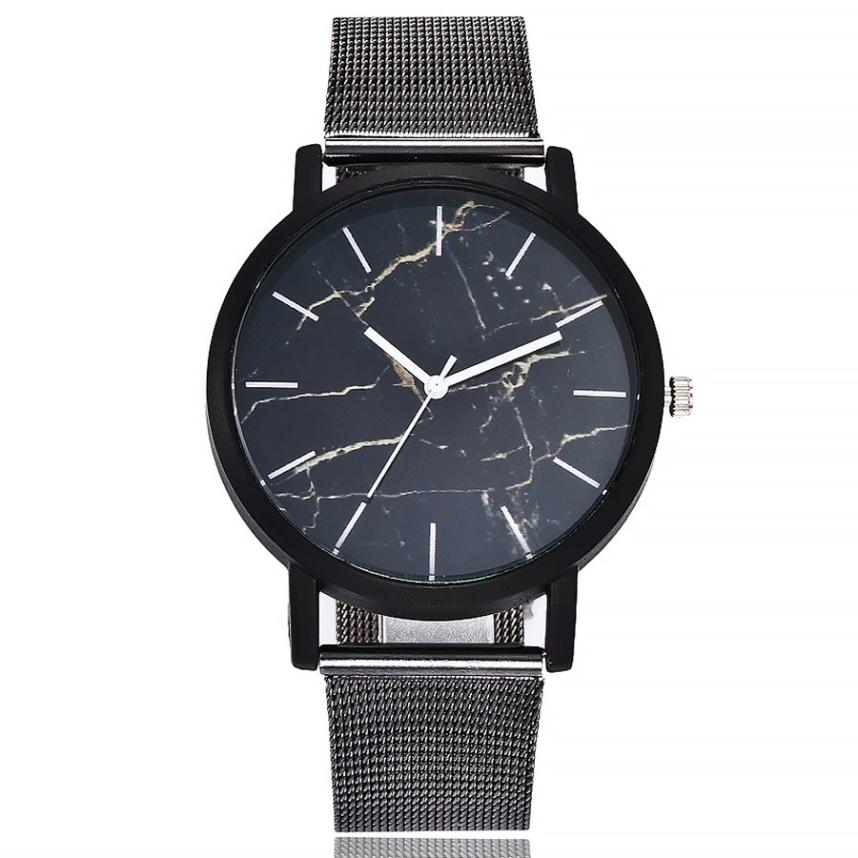 Quartz  Wristwatches Reloj  Top Brand Luxury   Hours  Watch    Stainless Steel Band Marble Strap Casual   Woman Watches  18MAR7 onlyou brand luxury fashion watches women men quartz watch high quality stainless steel wristwatches ladies dress watch 8892