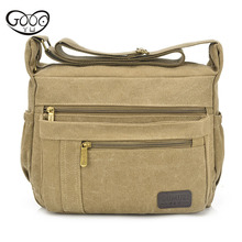 Mens and womens new multi-color casual canvas shoulder bag fashion retro zipper multi-pack oblique cross package section