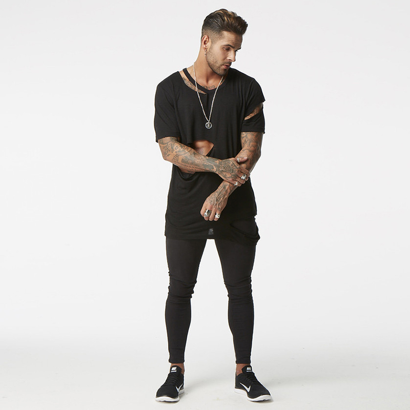 Skinny Jeans Men Black Classic Hip Hop Ss