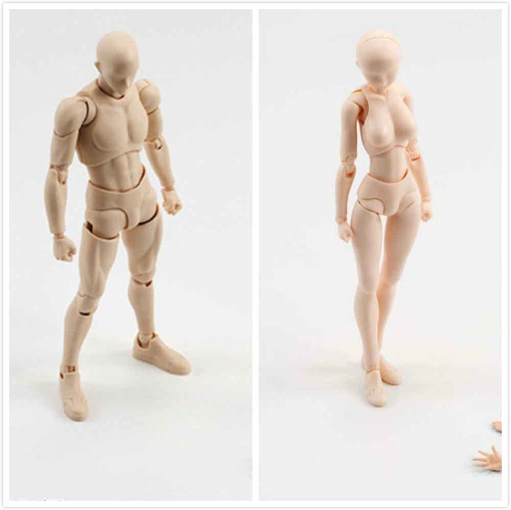 Anime SHFiguarts 14cm BODY KUN / CHAN DX SET Ver. PVC Action Figure Collectible Drawing Figures For Artists Model Toy(China)