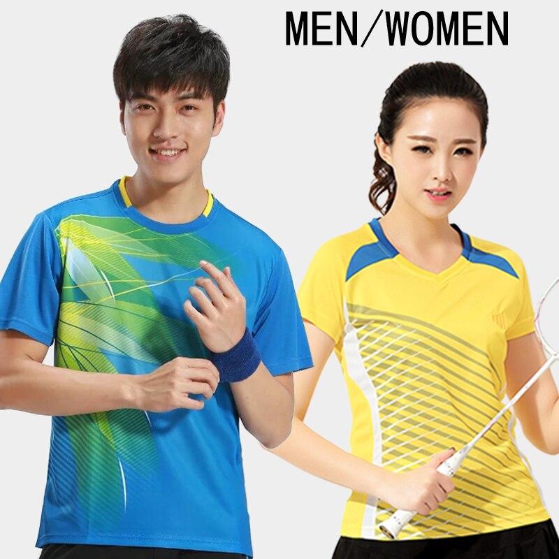 Бадминтон рубашка новый короткий рукав Для мужчин Теннис костюм Костюмы быстросохнущая Tenis masculino плюс Размеры Настольный теннис Джерси A07