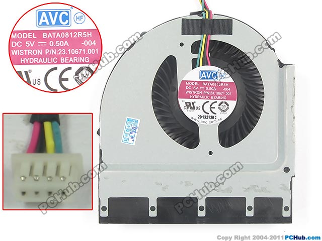 купить AVC BATA0812R5H 004 Server Laptop Fan DC 5V 0.50A 4-wire дешево