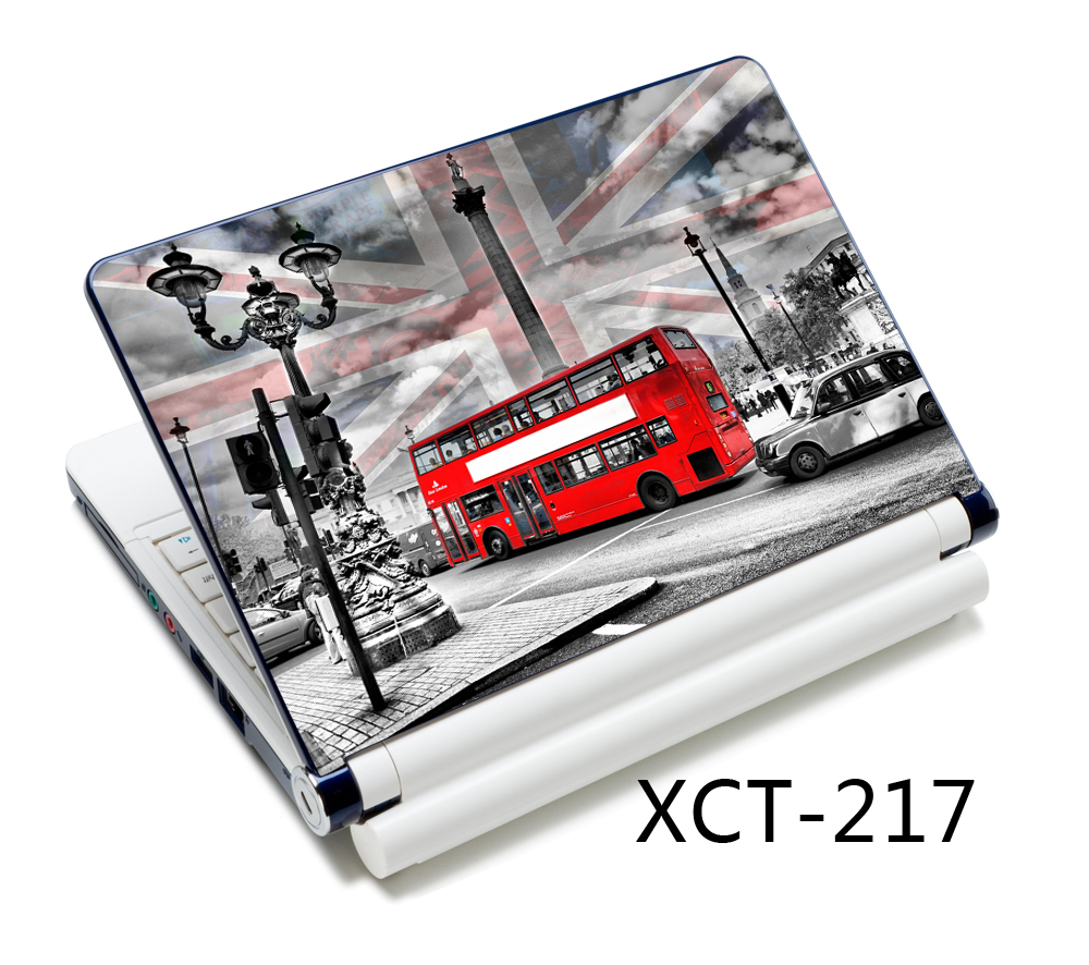 London Bus Flag Decal laptop sticker 13 15 14 13.3 15.6 inch laptop skin for lenovo/acer/asus computer