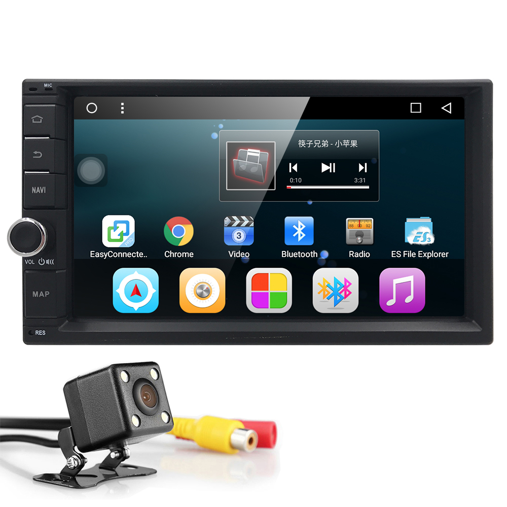 1G RAM 3G Quad Core Android 6.0 2din New Universal Car Radio Double Car DVD Player GPS Navigation In dash Car PC Stereo Video BT android 5 1 car radio double din stereo quad core gps navi wifi bluetooth rds sd usb subwoofer obd2 3g 4g apple play mirror link