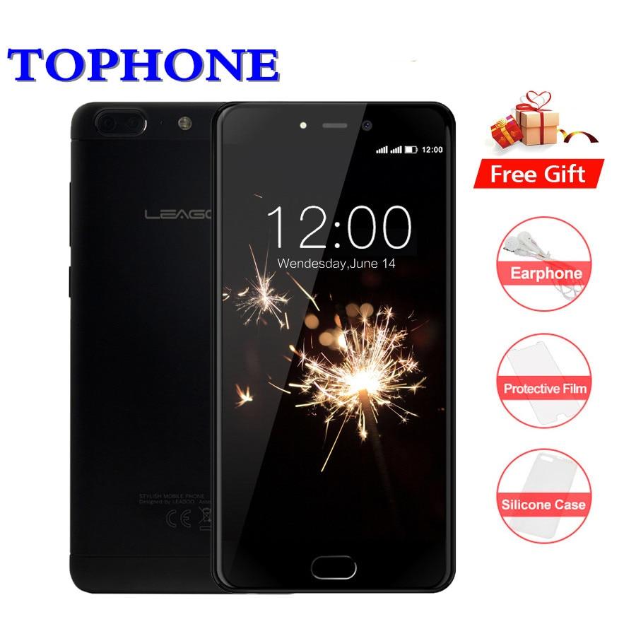 Leagoo T5 4g LTE Téléphone Portable Android 7.0 MT6750T Octa Core 5.5 FHD téléphone portable 4 gb RAM 64 gb ROM 13MP Double Vraie Caméra smartphone