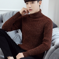 Winter 2018 new high necked men sweater Korean thickened knit sweater warm sweater tide